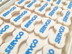 """Dog bone cookies for Servco's """"Bring your dog to work day!"""""""