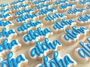 "Small ""aloha"" cookies, $2.50 each."