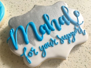 Large personalized plaque cookie, $5 each.