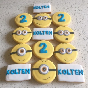 Small Minion birthday set. $36/dozen.