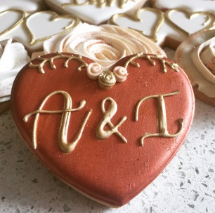 Medium heart Initial cookie. $4.00 each.