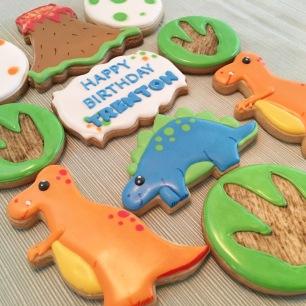 Dinosaur Cookies. $42/dozen.