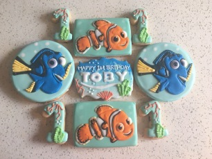 Finding Nemo themed cookies. $50/dozen.