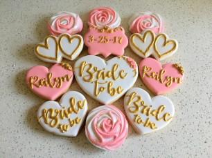 Pink and Gold Bridal Shower Set. $45/dozen.