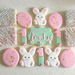 Somebunny is one birthday set (not including rice krispie treats). $40/dozen.