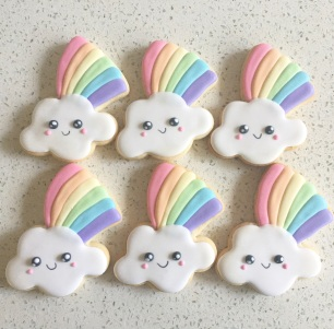 Kawaii rainbow cookies. $3.50 each.