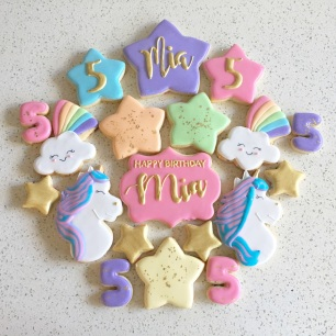 Unicorn Cookies. $42/dozen.