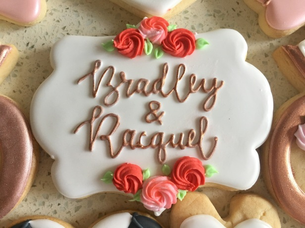 Large personalized plaque cookie. $5 each.