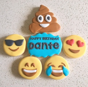 Emoji Birthday cookies. $42/dozen.