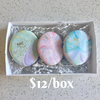 Box D: Marbled Egg Box Set. Beautifully packaged and tied with a bow.