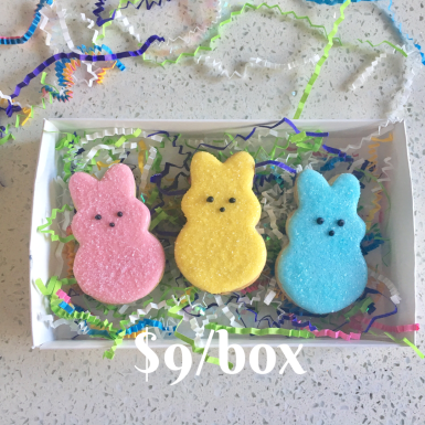 Box F: Peep Cookie Box Set. Beautifully packaged and tied with a bow.