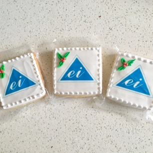 Holiday Logo Cookies for Electricians, Inc.