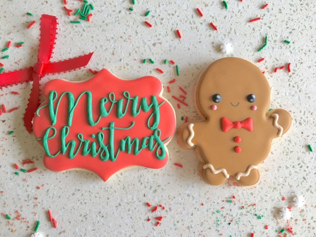 Merry Christmas w/ Gingerbread Boy Box