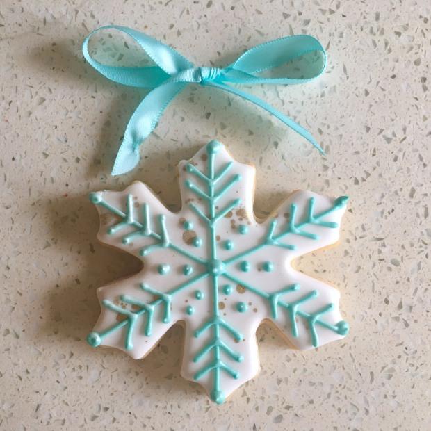 Shimmery White Snowflake.