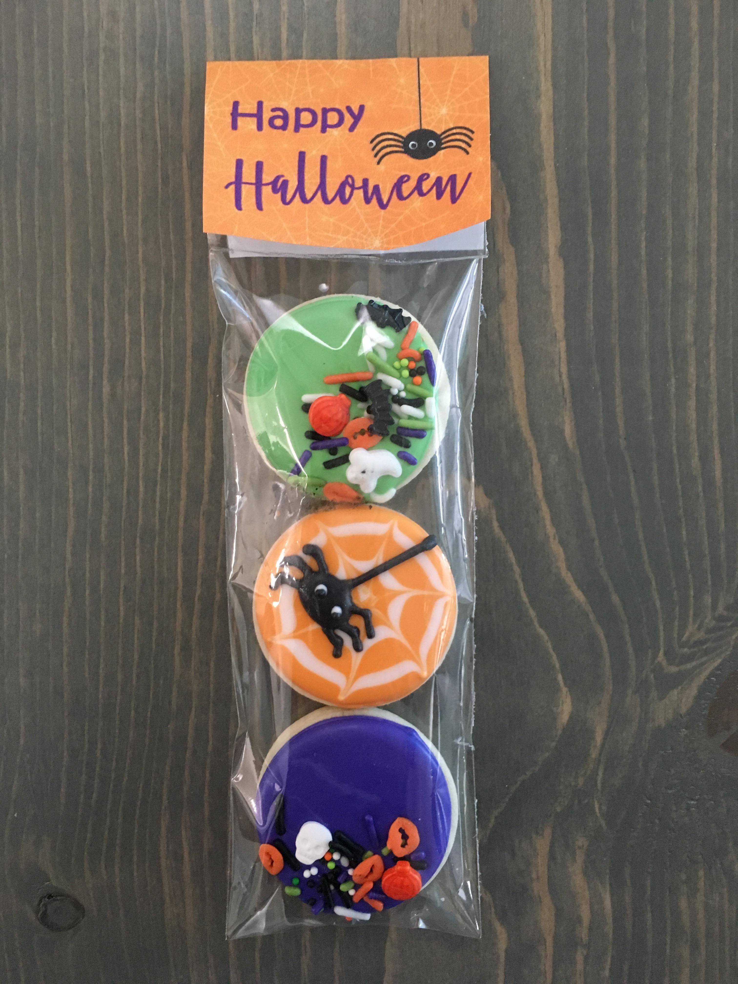 Halloween mini cookies